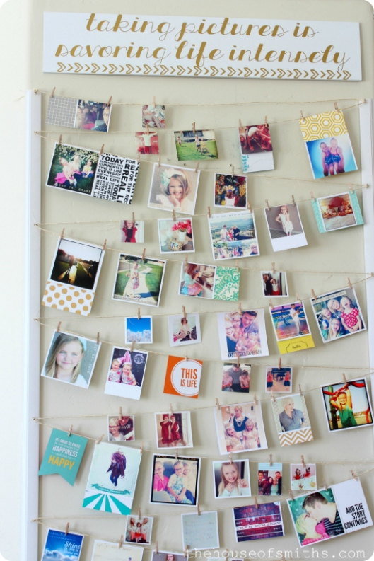 Instagram Photo Wall display - thehouseofsmiths.com